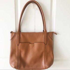 Lotis Siera Pebbled Leather Travel Tote/Purse
